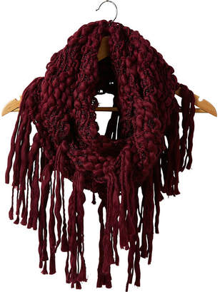 TICKLED PINK Tickled Pink Knit Fringe Infinity Cold Weather Scarf
