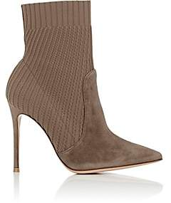 Gianvito Rossi Women's Katie Ankle Boots-Mud+bisque