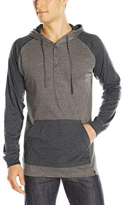 Burnside Men's Boardwalk Long Sleeve Knit Hooded Shirt
