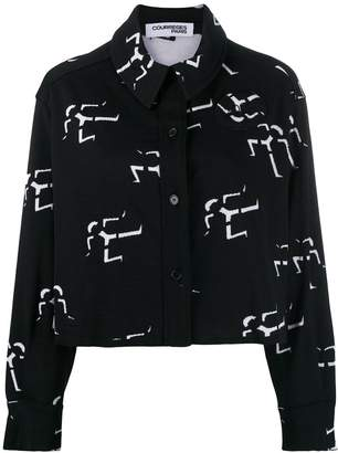 Courreges geometric print shirt jacket
