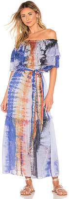 Raquel Allegra Silk Ruffle Maxi Dress