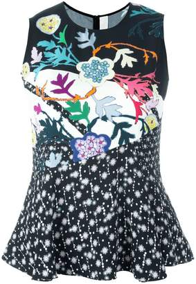 Peter Pilotto flared printed blouse