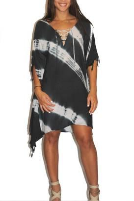 Letarte Lace Up Poncho $210 thestylecure.com