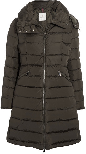Moncler Moncler - Flamette Quilted Shell Down Coat - Army green