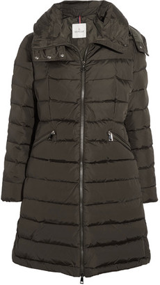 Moncler - Flamette Quilted Shell Down Coat - Army green $1,300 thestylecure.com