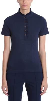 Tory Burch Blue Cotton Polo T-shirt