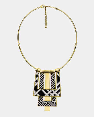 Chinese Key and Pagoda Statement Necklace