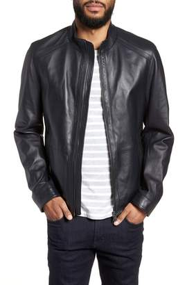 BOSS Nestal Regular Fit Leather Jacket
