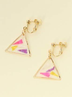 WEGO (ウィゴー) - WEGO (L)三角カラーホロイヤリング ウィゴー アクセサリー