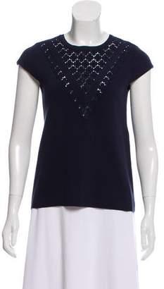 Tara Jarmon Lace Trim Knit Top