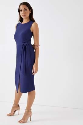 Closet Womens Tie V Back Pencil Dress - Blue