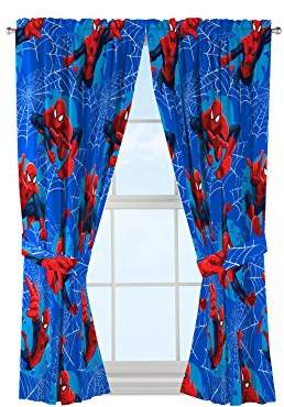 Marvel Spiderman Astonish 63' Window Drapery/Curtain 4pc Set (2 Panels