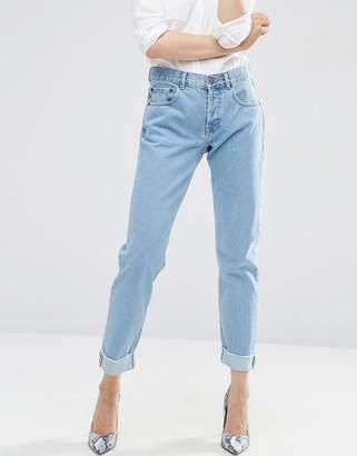 ASOS Carrot Boyfriend Jeans in Bleach Wash $49 thestylecure.com