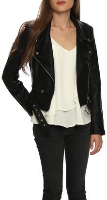 Le Marais Faux Leather Motorcycle Jacket $119 thestylecure.com