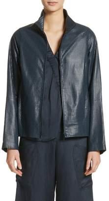 Zero Maria Cornejo Perforated Nappa Leather Jacket