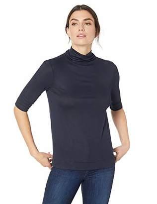 Lark & Ro Women's Elbow Length Sleeve Turtle Neck Shirt