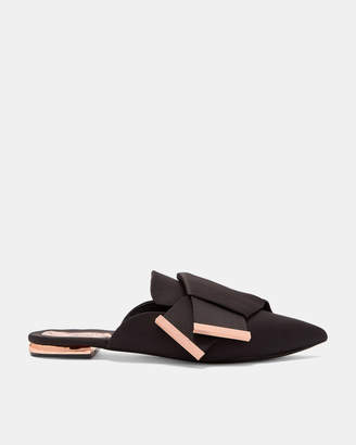 Ted Baker WRENA Knotted bow backless satin loafers