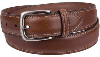 Dickies Men's Leather Belt with Contrast Stitch