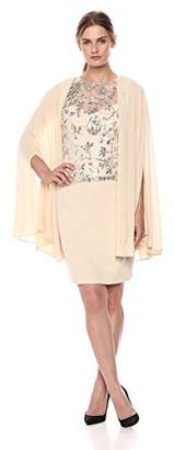 Tahari by Arthur S. Levine Women's Novelty Cape Dress