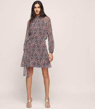 Reiss Avis Printed Dress