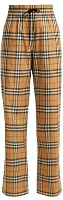 Burberry Whynham Cotton Trousers - Womens - Beige Multi