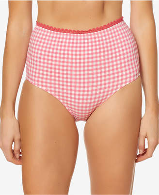 Jessica Simpson Printed High-Waist Bikini Bottoms Women's Swimsuit