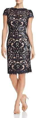 Tadashi Shoji Petites Sequined Damask Dress