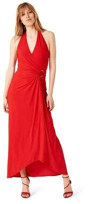 Damsel in a Dress Red Antonia Gold Ring Maxi Dress