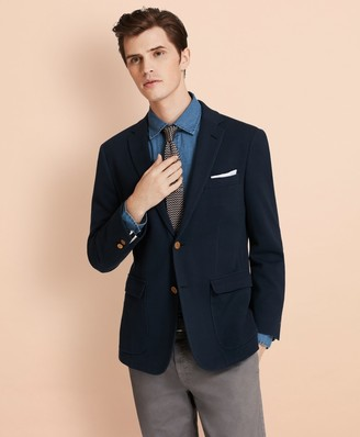 Brooks Brothers Pique Two-Button Knit Blazer