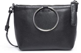 Kara Oversized ring leather crossbody bag