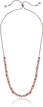 Kenneth Cole New York Womens Rose Gold Pearl and Crystal Frontal Necklace