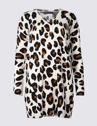 Marks and Spencer Animal Print Longline Jumper
