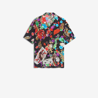 Balenciaga Short Sleeves Shirt in multicolor casino printed viscose