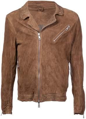 Giorgio Brato wrinkled leather jacket