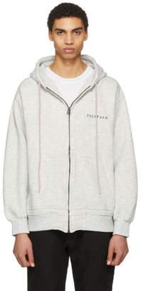 Facetasm Grey Logo Hoodie