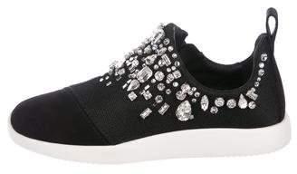 Giuseppe Zanotti Crystal-Embellished Slip-On Sneakers