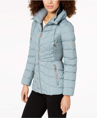 Bernardo Quilted Packable Puffer Coat