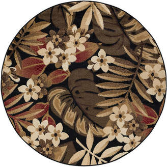 TAYSE Tayse Carribe Transitional Floral Round Area Rug