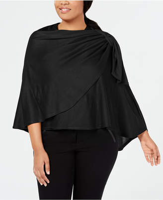 INC International Concepts I.n.c. Pull-Through Bow Plus-Sized Wrap