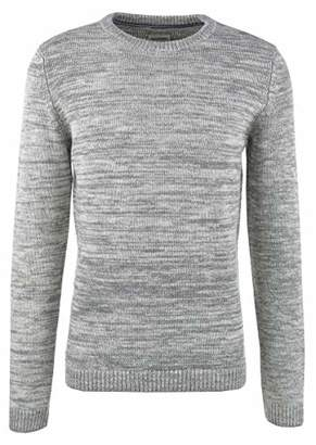 Tom Tailor Men's Revolverheld: Strukturierter Pullover Aus Organic Cotton Jumper, (Tarmac Grey Non-Soli 14236), Large