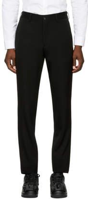 Comme des Garcons Black Wool Trousers