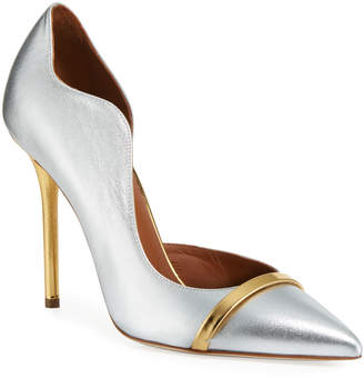 Malone Souliers Morissey 100mm Metallic Leather Pumps