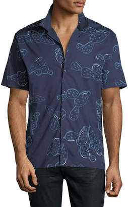 Antony Morato Men's Prickly Pear Printed Button-Front Shirt