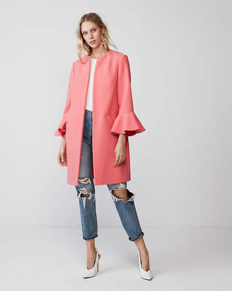 Express Double Weave Flutter Sleeve Coat