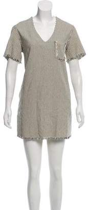 Alexander Wang Frayed-Trimmed Shift Dress