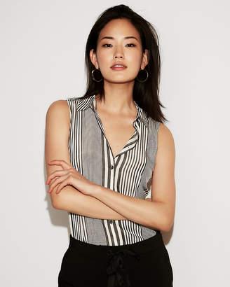 Express Striped Sleeveless City Shirt