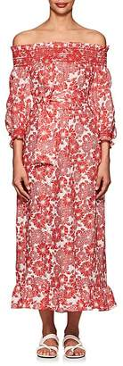 Lisa Marie Fernandez Women's Tomato Floral Linen Belted Dress