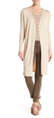 Cotton Emporium Ribbed Sleeve Split Side Cardigan