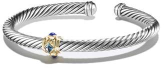 David Yurman Renaissance Bracelet with Blue Topaz, Lapis Lazuli and 14K Gold