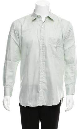Valentino Herringbone Button-Up Shirt